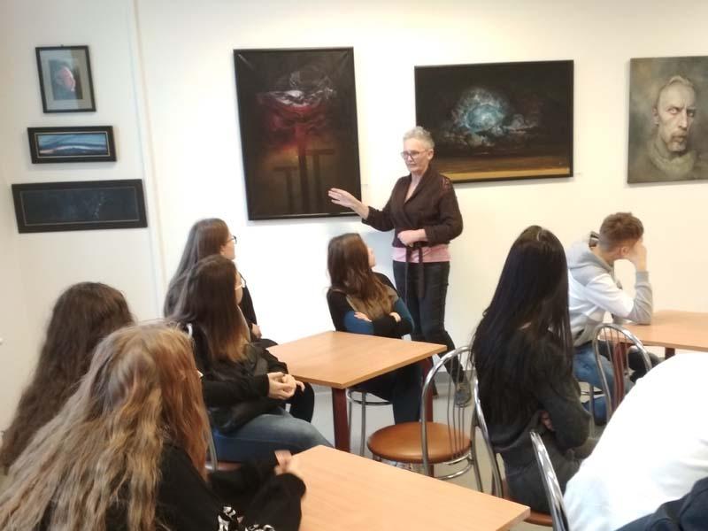 Spotkanie z malarzem Arturem Lobusem