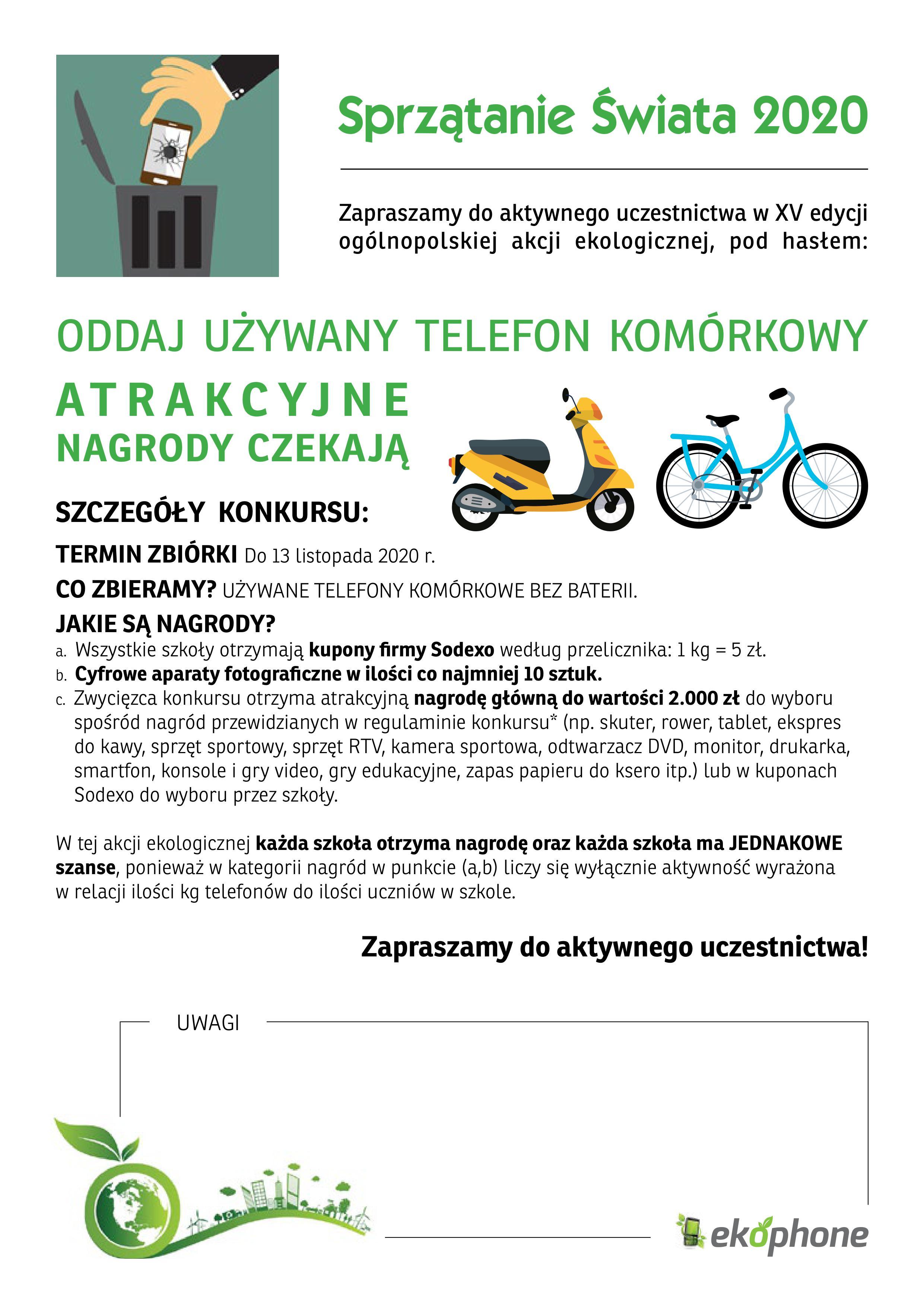 ODDAJ UŻYWANY TELEFON KOMÓRKOWY